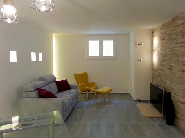 Casa a loreto progetto di distribuzione e interior design - Taverna di casa ...