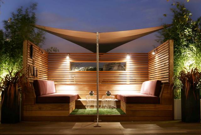 City roof terrace for Modern garden rooms london