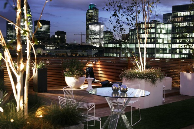 City Roof Terrace - Contemporary - Terrace - London - by ...