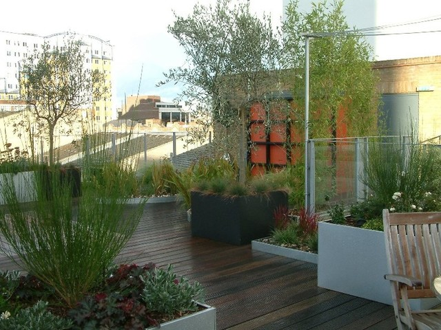 Garden in the sky traditional deck london by cool for Houzz landscape architects