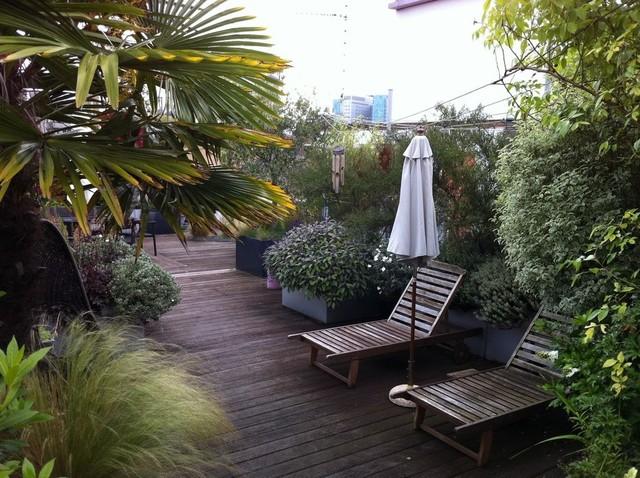 Garden In The Sky Modern Deck London By Cool Gardens Landscaping Ltd