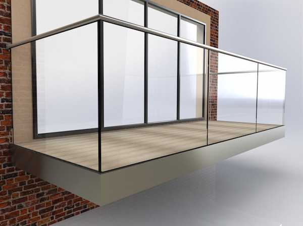 Glass balcony with composite decking contemporary deck for Glass balcony