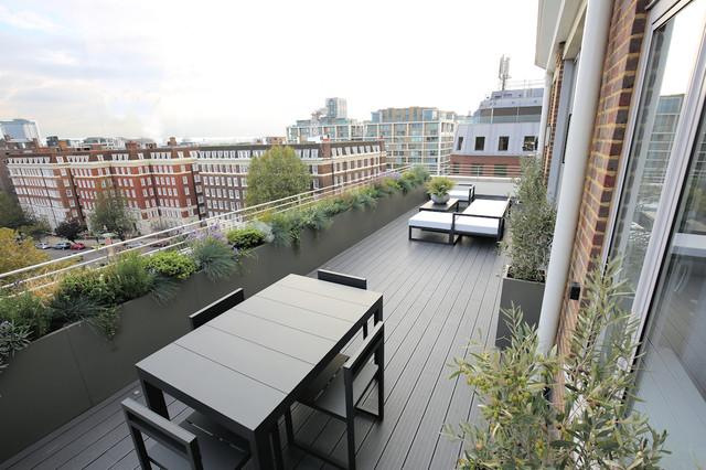 Holland park london contemporary terrace balcony for 4 holland terrace needham ma