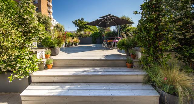 Modern London Roof Garden Contemporary Deck London By