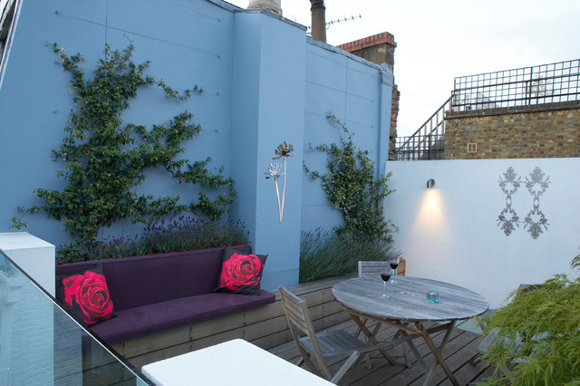 Notting hill roof terrace for Modern garden rooms london