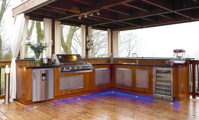 Outdoor Kitchen Modern Patio Manchester By Outdoor Kitchens UK