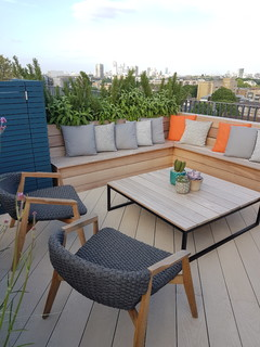 Roof Terrace Contemporary Deck London By Garden Club London Ltd