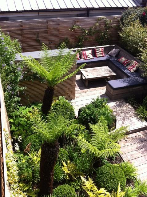 Small Garden Oasis Contemporary Deck London by Garden Club