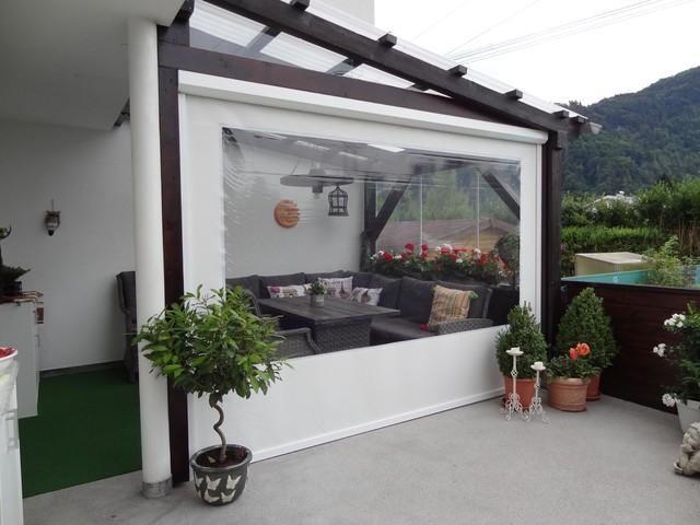 allwetterschutz aufrollbar f r terrassen klassisch. Black Bedroom Furniture Sets. Home Design Ideas