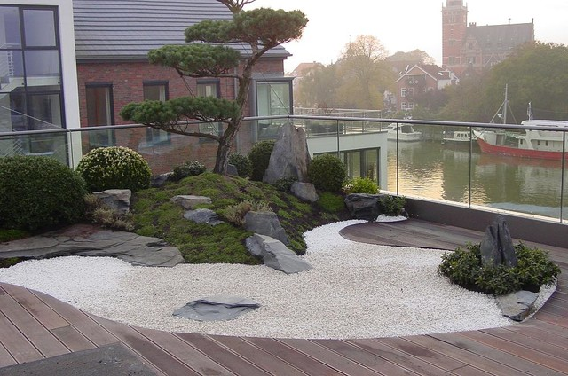 zengarten auf dachterrasse asiatisch terrasse hannover von japan garten kultur. Black Bedroom Furniture Sets. Home Design Ideas