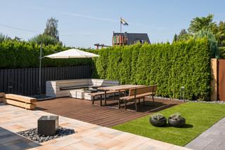Moderne Terrasse Mit Wasserspiel Ideen Design Bilder Houzz