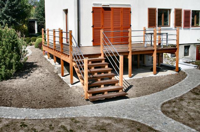 einst ckige balkone und terrassen mediterran terrasse dresden von holztechnik l tzsch gmbh. Black Bedroom Furniture Sets. Home Design Ideas