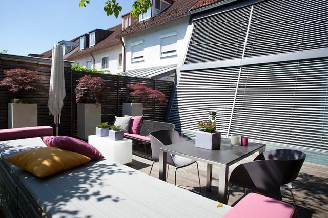 gartengestaltung hausgarten m nchen trudering modern terrasse m nchen von blumen g rten. Black Bedroom Furniture Sets. Home Design Ideas