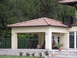Gartenpavillon mediterran terrasse essen von blanc mecklenburg architekten - Badmobel mediterran ...