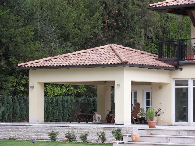 gartenpavillon mediterran terrasse essen von blanc. Black Bedroom Furniture Sets. Home Design Ideas