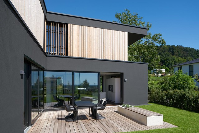 haus f in nu loch modern terrasse berlin von thomas fabrinsky freier architekt bda. Black Bedroom Furniture Sets. Home Design Ideas
