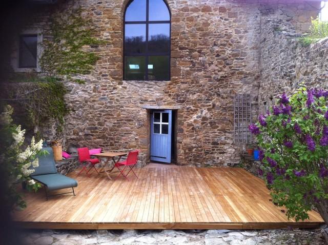 Teakholz terrasse  Holz-Verandas und -Terrassen - Teak