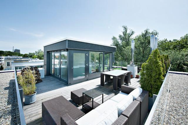 modernes weißes penthouse plan