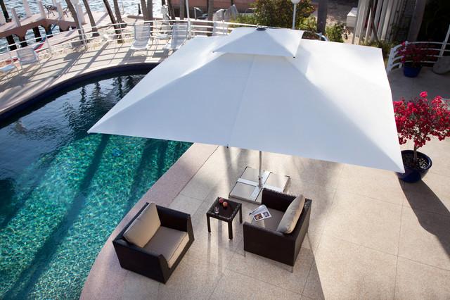 sonnenschirm supremo mit winddach mediterran terrasse. Black Bedroom Furniture Sets. Home Design Ideas