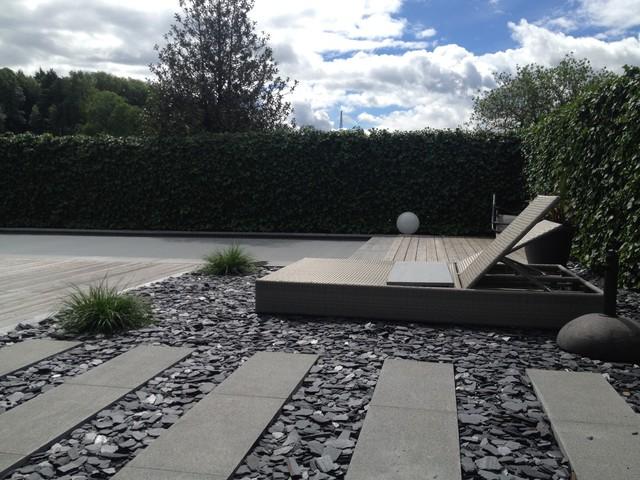 Stein Garten Design steingarten mit liegefläche