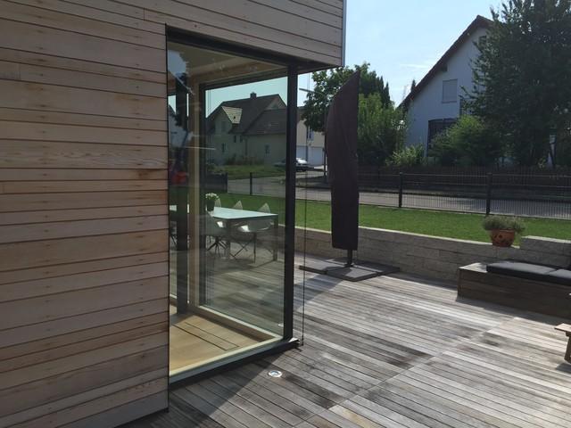 eckfenster terrasse passivhaus l modern bodentief kosten