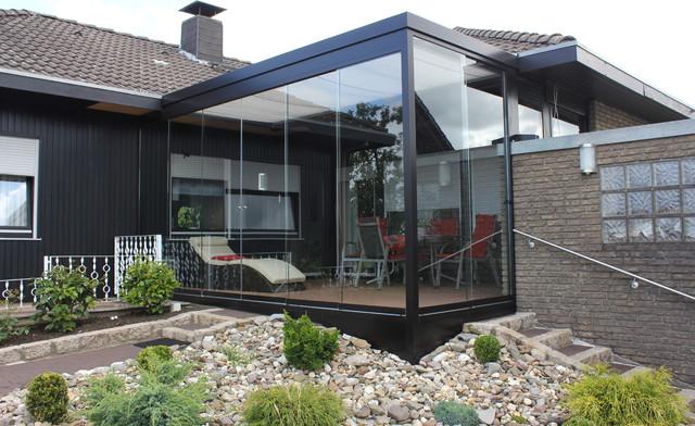 Glas Terrasse terrassen überdachung flachdach mit glas