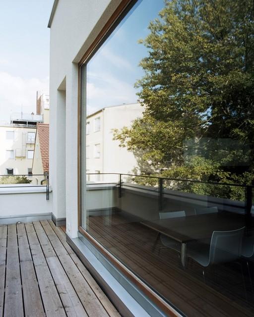 tu münchen - appartements für professoren - modern - terrasse, Innenarchitektur ideen
