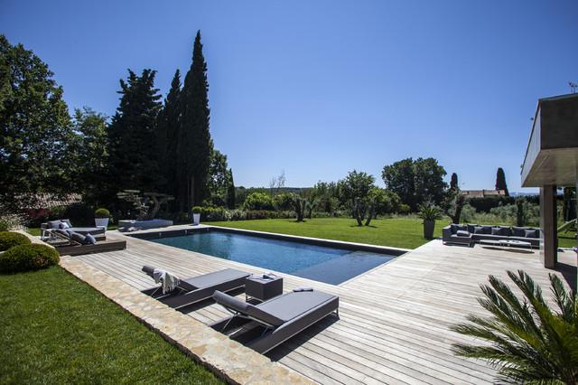 AIX EN PROVENCE - jardin méditerranéen - Contemporain - Terrasse en ...