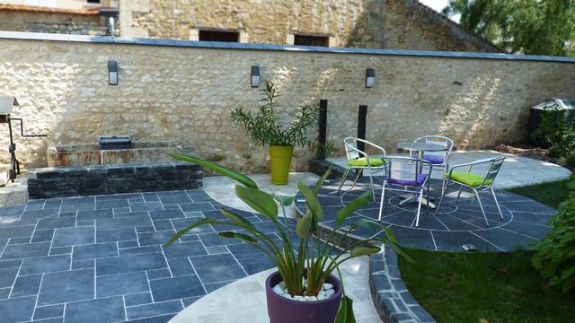 Aménagement d\'une terrasse - Contemporain - Terrasse et Patio ...