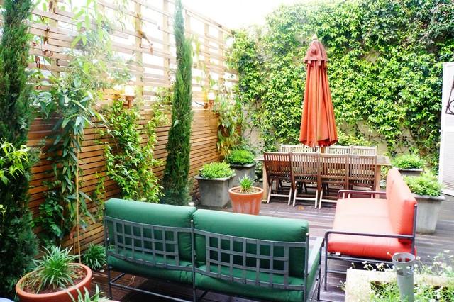 Aménagement d\'une terrasse urbaine - Mediterran - Patio ...