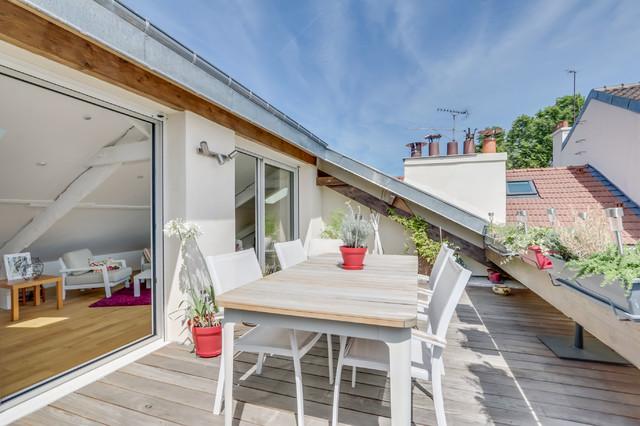 Amenagement De Combles Et Creation Dun Duplex A Maisons Alfort Contemporain Terrasse