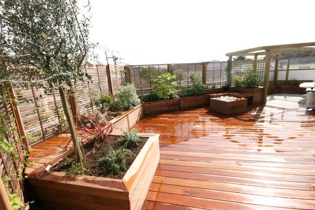 Aménagement de Rooftop - Minimalistisch - Terrasse - Nantes ...