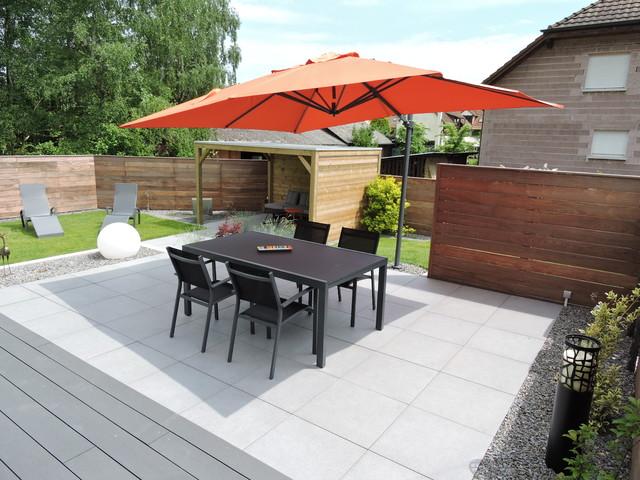 Aménagement de terrasse et espace détente - Contemporain - Terrasse ...