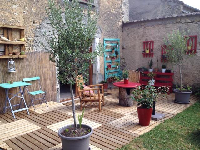 Aménagement jardin terrasse - Landhausstil - Terrasse - Nancy
