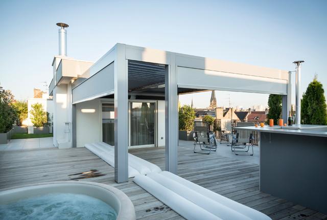 Aménagement Terrasse à Strasbourg - Contemporain - Terrasse en Bois ...