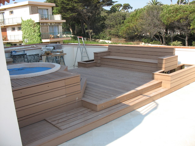 AMENAGEMENT TERRASSE BOIS - Deck - Nice - by DECOBOIS