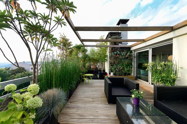 Appartement duplex Suresnes - Modern - Terrasse - Paris ...