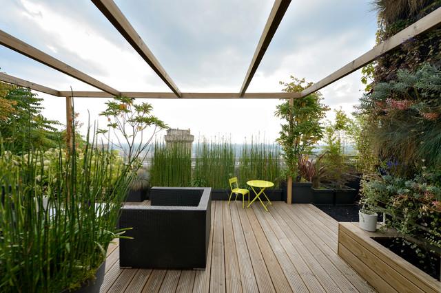 appartement duplex suresnes modern terrasse paris von design 2l. Black Bedroom Furniture Sets. Home Design Ideas