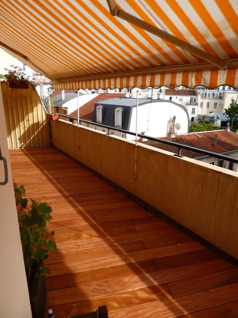 Balcon Terrasse En Bois Exotique Contemporary Terrace