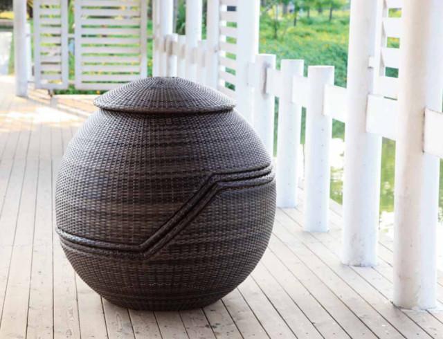 Ball - Salon de jardin en résine tréssée