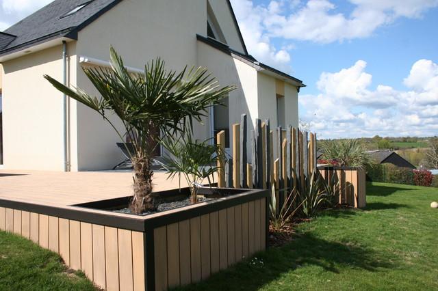 composite ardoise et palmier contemporain terrasse en bois angers par eurl olivier dubois. Black Bedroom Furniture Sets. Home Design Ideas