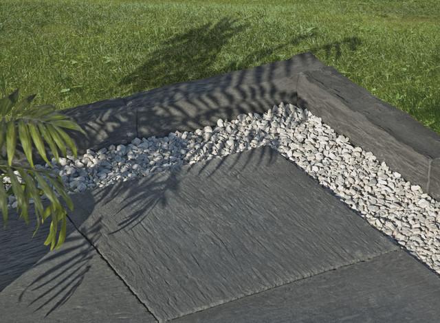 dalle de terrasse et bordure de jardin auray weser moderne terrasse et patio angers par. Black Bedroom Furniture Sets. Home Design Ideas