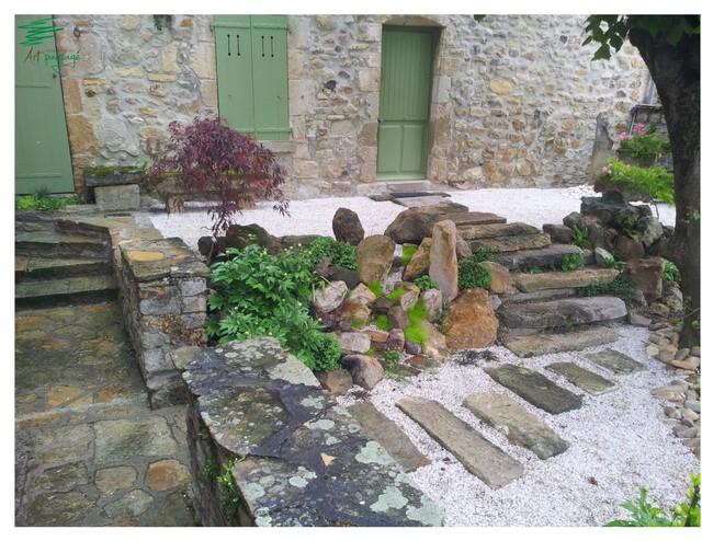 Espace d accueil japonisant asiatique terrasse et - Toiture terrasse jardin clermont ferrand ...