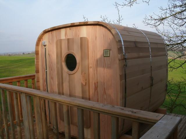 espace d tente sauna exterieur campagne terrasse en. Black Bedroom Furniture Sets. Home Design Ideas