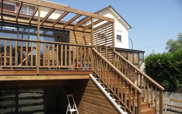 Extension bois sur 2 niveaux for Extension bois 2 niveaux