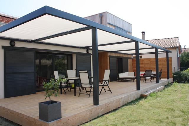 extension contemporaine ossature bois et r novation d 39 une maison d 39 habitation contemporain. Black Bedroom Furniture Sets. Home Design Ideas