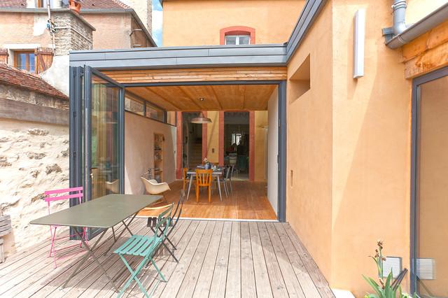 Extension d 39 une maison de ville contemporary deck - Extension maison de ville ...