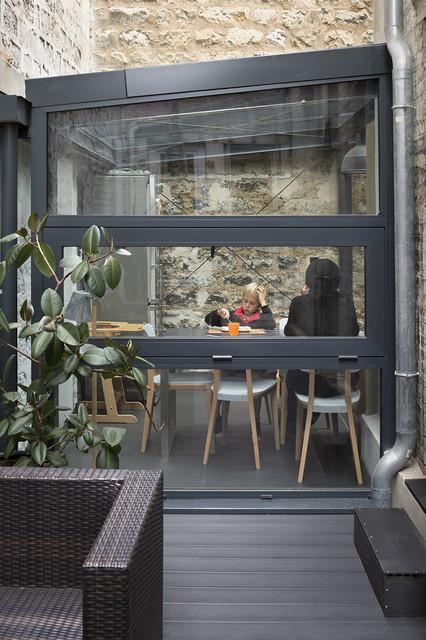 extension de maison paris modern deck paris by think tank architecture. Black Bedroom Furniture Sets. Home Design Ideas