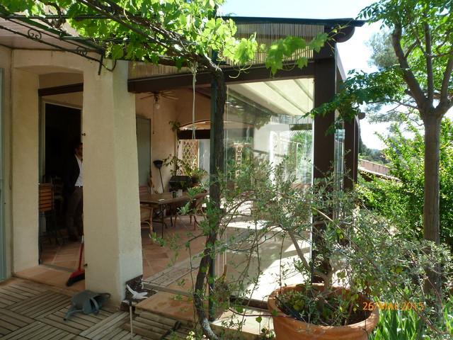 Extension De Terrasse Avec Pergola Toiture V Lum