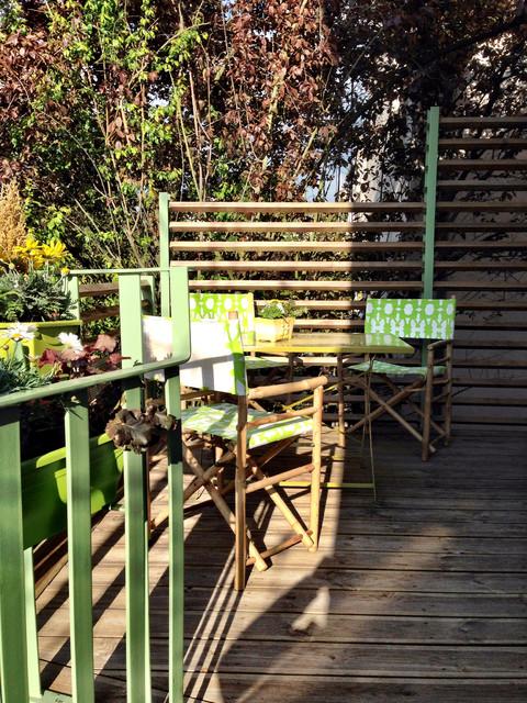 Extension jardin d 39 hiver suspendu industrial courtyard for Jardin suspendu